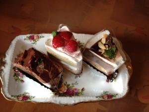 桜珈琲のケーキ